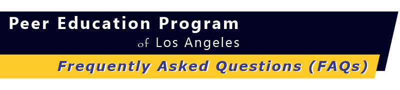 Welcome to PEP LA - Frequently Asked Questions